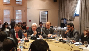 The opening of the committee on implementing the prisoner exchange agreement in Amman, 5 February. OSESGY/Hanan Elbadawi