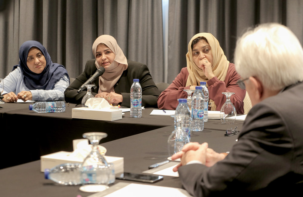 UN Special Envoy for Yemen, Martin Griffiths, convened a separate meeting with Yemeni women participants