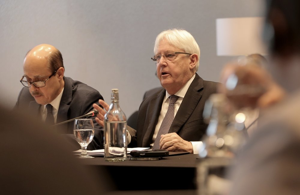 "The UN Special Envoy, Martin Griffiths, welcomed the participants to the two-day meeting: ""We are here to engage with you. We want to hear your insights on the biggest challenges facing the resumption of the political process and your recommendations on how to overcome those challenges"