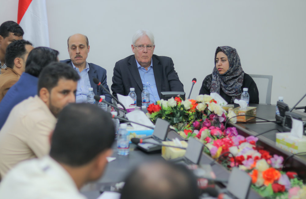 UN Special Envoy for Yemen, Martin Griffiths, meets with civil society organizations including women and youth groups