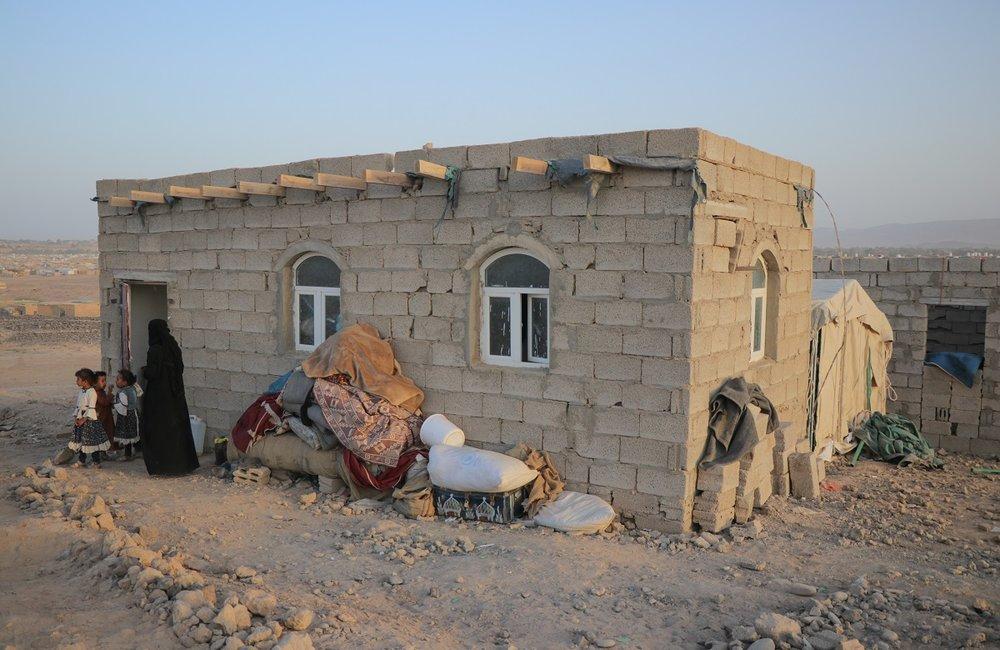 Aziza, an internally displaced Yemeni woman in Marib